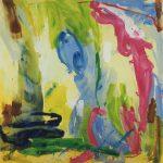au fond du Temple Saint I 1999 acrylic on canvas 200x200