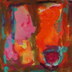 au fond du temple saint II 1999 acrylic on canvas 200x200