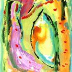 crohot III Toussaint 1999 acrylic on paper 56x76
