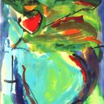 crohot VI 1999 acrylic on paper 56x76