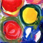east - kyoto sun 2000 acrylic on canvas 100x100