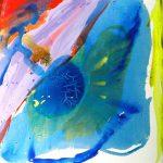 kiara poolside I 2005 acrylic on canvas 150x150