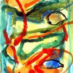 la crohot IV 1999 acrylic on paper 56x76