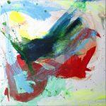 les hirondelles I 2012 acrylic on canvas 40x40
