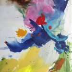 les hirondelles II 2012 acrylic on canvas 40x50