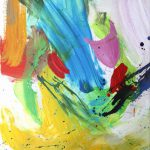 les hirondelles III 2012 acrylic on canvas 40x50