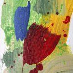 les hirondelles study 2012 acrylic on wood 16x25
