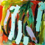 racines d'Angkor 2005 acrylic on canvas 100x100