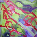 simpang 1067-12 2001 acrylic on canvas 180x180
