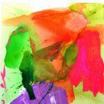 soleil vert 2003 acrylic on canvas 150x150