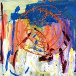 west - lacken millenium night 2000 acrylic on canvas 100x100